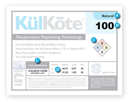 KulKote product label